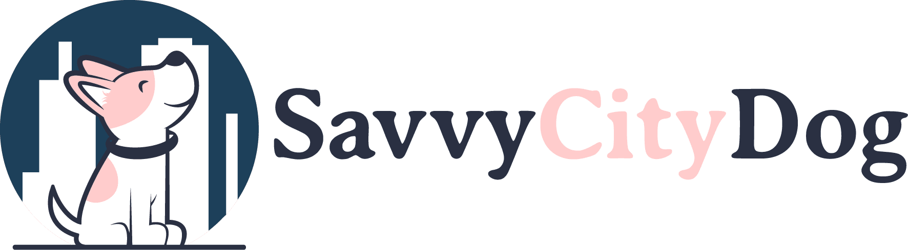 Savvy City Dog Logo